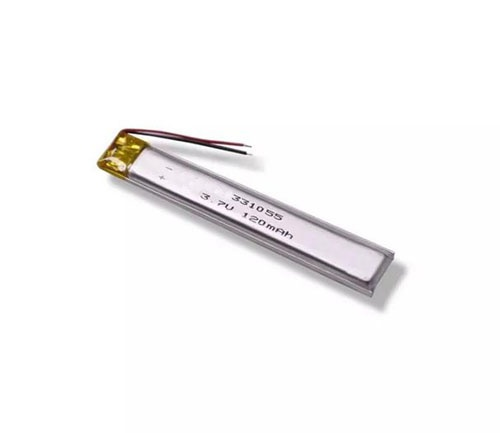 10mm ultra narrow 3.7V 120mAh lipo battery