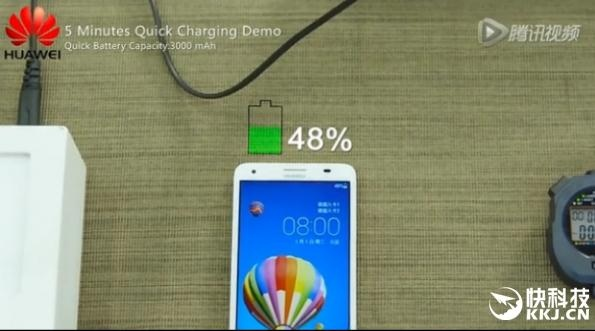 5 minutes fast charging test