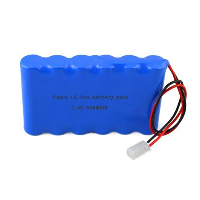 Lithium Battery Pack >> 7 4v 6600mah Li Ion Rechargeable Battery Pack 7 4v Li Ion Battery