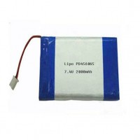 Custom lipo battery pack 7.4V 2000mAh PD456065