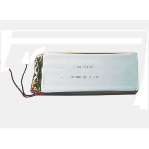 3.7V 2000mAh lithium polymer battery PD455190