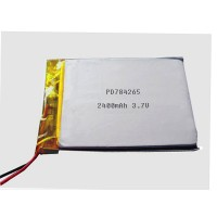 Li ion polymer battery 3.7V 2400mAh PD784265