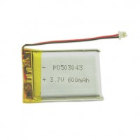 Lithium polymer battery 3.7V 600mAh PD503043