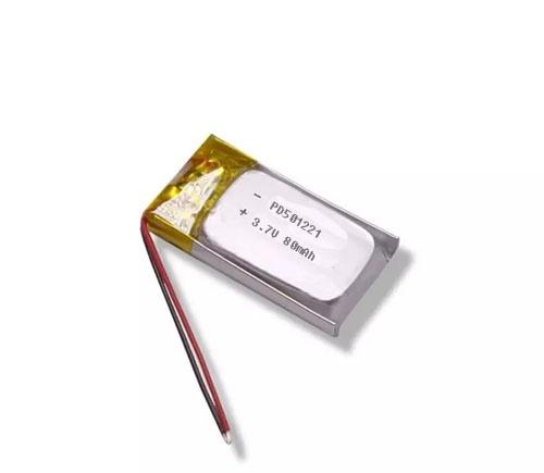 Tiny size small lipo battery 3.7V 80mAh PD501221