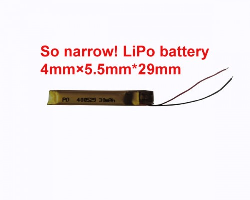 Ultra narrow lipo battery